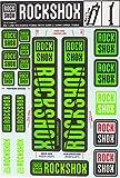 RockShox Aufklebersatz 30/32mm und RS1 neongrün, SID/Reba/Revelation (<2018) Sektor/Recon/X32/30G/30S/XC30, 11.4318.003.501 Ersatzteile grün Standrohre
