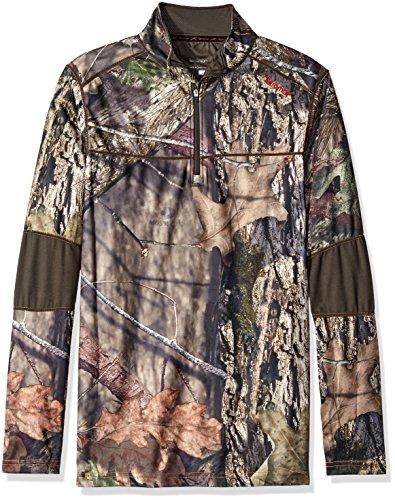 Terramar Herren Tracker Camo Fleece Quarter Zip Jacke, Herren, Mossy Oak Break-up Country/Dark Loden, 3X-Large Loden Green Wool
