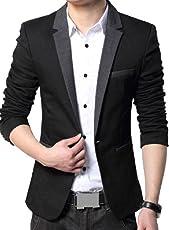 Beetle Men's Cotton Single Breasted Blazer(Kz_01_XXL_XX-Large_Multicolored)