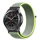 XIHAMA - Correa de Repuesto para Samsung Gear S3 Frontier y Classic, 22 mm, Nailon de Ajuste rápido, Correa Deportiva para Reloj Huawei 2 Classic (Verde)