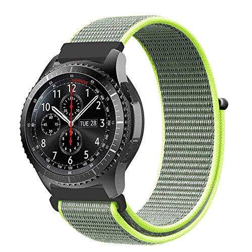 XIHAMA - Correa de Repuesto para Samsung Gear S3 Frontier y Classic, 22 mm, Nailon de Ajuste rápido, Correa Deportiva para Reloj Huawei 2 Classic