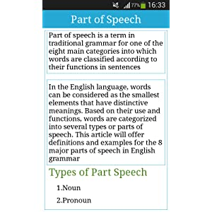 how many types of parts of speech