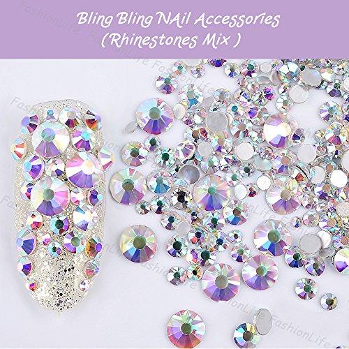 Metallische 3D-Perlen in gold silber Maniküre zum Selbermachen Strass-Stecker-Zubehör für Nagel Strasssteine - FashionLife