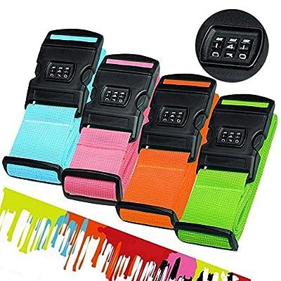 Hibate Luggage Locking Strap Suitcase Baggage Lock Belts - (Set of 2)