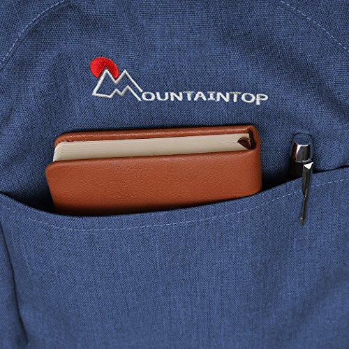 Mountaintop 25L/30L dauerhaft lässig Daypack Studenten Rucksack ideal für die Uni lässige Tasche, 44 x 28 x 13 cm/33x19x50 cm Saphirblau 1