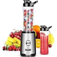 Smoothie Mixer SCIJOY Standmixer für Milchshakes und Juice Shakes, Blender elektrisch, Kleiner Mixer mit 2 Tritan BPA…
