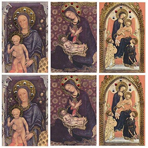 6 Edle Grußkarten, Maria mit Kind, Set 4, reduziert! - Susy Card