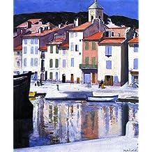 ODSAN The Harbour, Cassis - By Francis Campbell Bolleau (F.C.B.) Cadell - impressions sur toile 24x29 pouces - sans cadre