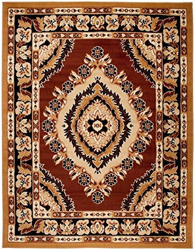 Alfombra 100 x 200 cm Marrón Oriental Decoración Diseño/Carpeto Colección Verona