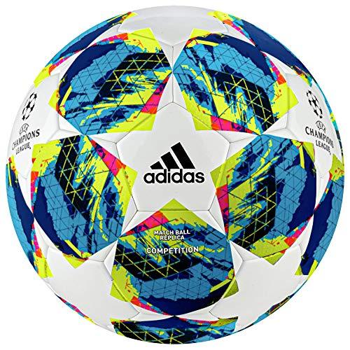 adidas Jungen Finale COMP Turnierbälle für Fußball, top:White/Bright Cyan/solar Yellow/Shock pink Bottom:Collegiate royal/Black/solar orange, 5