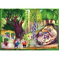 Wandbild fürs Kinderzimmer - Kräuterzwerge von E.M. Ott-Heidmann aus schnurverlag