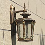TOYM UK Al aire libre de alta calidad patio al aire libre impermeable balcón lámpara villa puerta jardín al aire libre pabellón lámpara de pared
