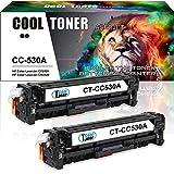 Cool Toner Kompatibel Toner fuer CC530A 304A Tonerkartusche replacement fuer HP Color LaserJet CP2025 CP2025N CP2025DN; HP Color LaserJet CM2320 CM2320N MFP CM2320NF MFP CM2320FXI MFP(Schwarz, 2 Pack, 3500 Seiten)