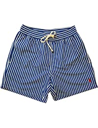 Ralph Lauren Polo Hawaiian Swim Shorts Stripe Blue