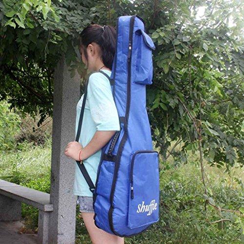 ELECTROPRIME 41inch Shoulder&Carry Oxford Fabric Guitar Protective Bag Soft Case Blue