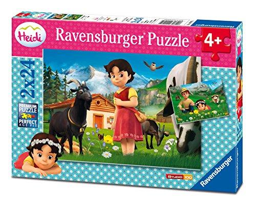 Ravensburger 09091 - Heidi in den Alpen Puzzle, bunt