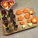 Backzubehör- Edelstahl Keks-Ausstecher für Kuchen und Plätzchen aus Edelstahl 304, multifunktionaler Küchenhelfer