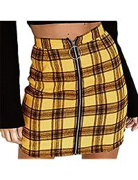 Rcool Röcke Mode Verband Wildleder Stoff a-Linie Rock Nahtlose Stretch Engen kurzen Rock für Frauen Damen