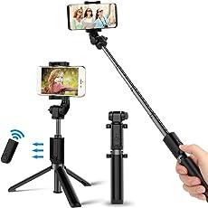 Bovon Selfie Stick Stativ mit Bluetooth-Fernauslöser Selfie-Stangen Ausfahrbar 360°Rotation, Selfiestick für iPhone X/8/8 Plus/7/7 Plus, Samsung S9/S9 Plus und alle Handys mit der Breite 5.5cm-8.5cm