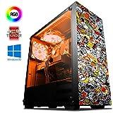 Vibox Fury 63 Gaming PC con Gioco Warthunder, 4GHz AMD FX Otto Core Processore, Nvidia GeForce GTX 970 Scheda Grafica, 3TB Hard-Disk, 240GB SSD, 32GB RAM, Commando Neon Rosso