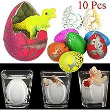 Isuper 10 unidades de huevos de dinosaurio para mascotas con diseño de gato a juego para