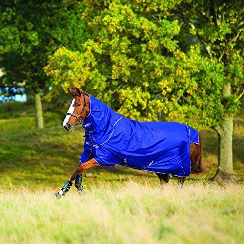 Horseware Hero 6 Plus - Cubierta para caballos, 200 g, con cuello desmontable, Manta para caballos, Atlantic Blue/Atlantic Blue & Ivory