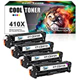 Cool Toner Kompatibel CE410X CE411A CE412A CE413A Fuer HP Laserjet Pro 400 Color M451DN M451NW M451 Pro 300 Color MFP M375NW Toner Replacement for HP 305 X 305A 4er-Pack