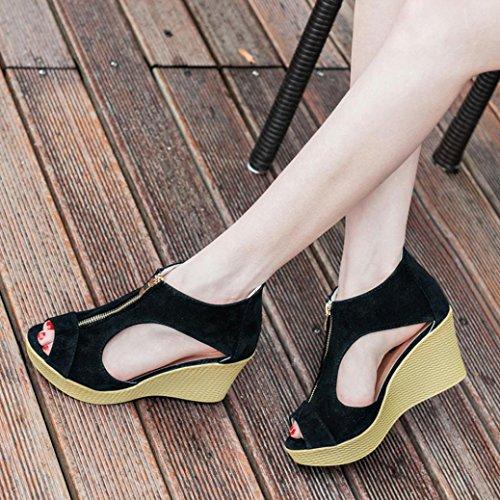 Rcool Mädchen Schuhe Sommer Sandalen Casual Sandalen Schwarz