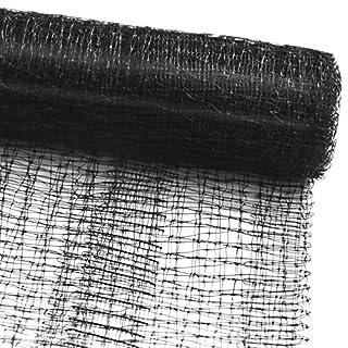 Vogelschutznetz zum Abdecken von Bäumen, Sträuchern, Beeten | viele Größen | reißfestes Vogelnetz für Garten, Balkon oder Teich | Netz zum Schutz vor Vögeln | Maschenweite: 13 mm | schwarz | 4x10 m
