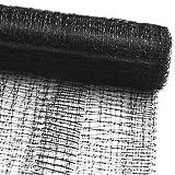 Vogelschutznetz zum Abdecken von Bäumen, Sträuchern, Beeten | viele Größen | reißfestes Vogelnetz für Garten, Balkon oder Teich | Netz zum Schutz vor Vögeln | Maschenweite: 13 mm | schwarz | 2x10 m