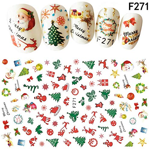 e Nail Art Sticker Aufkleber Tipps Dekoration Multi-Color ()