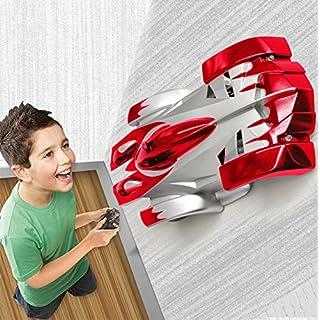 MMTX Wall Climbing RC Stunt Autowände Bergsteiger Fahrzeug Rocket Electric Mini Schwerelosigkeit Fernbedienung Auto Spielzeug Perfekt für Kinder, Kinder, Jugendliche, Erwachsene (rot)