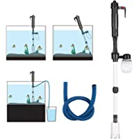 Anself Electric Aquarium Fish Tank Water Changer Sand Washer Vacuum Siphon Operated Gravel Cleaner Aquarium Cleaning…