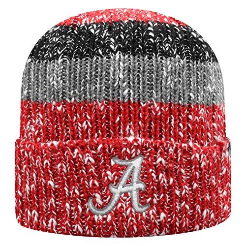 Top of the World NCAA Alabama Crimson Tide Men's Elite Fan Shop Winter Knit Wonder Warm Hat, Cardinal - Crimson Knit Beanie