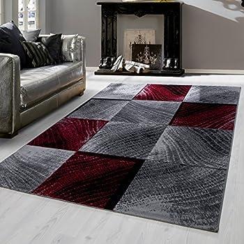 Teppiche modern design Rechteckig Kurzflor Sand Motiv Meliert Schwarz