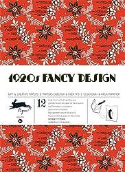 1920s Fancy Design - Volumen 34. 12 grandes feuilles de papiers cadeaux & créatifs de haute qualité.