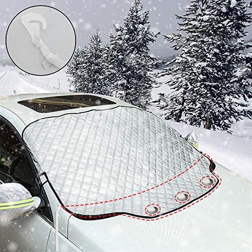 iZoeL Windschutzscheibenabdeckung Abdeckplane Auto Frontscheibenabdeckung Magnetische autoabdeckung Frostschutz Eis Schnee Universal 120cm*186cm für Universal Auto SUV PKW LKW
