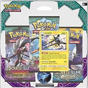 Asmodee-3pack01sl02-Pack 3Boosters Pokémon Sol & Luna 2-