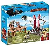 PLAYMOBIL DreamWorks Dragons Bocón con Lanzadera de Ovejas, A partir de 4 años (9461)