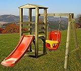 Kletterturm für Kleinkinder mit Rutsche Spielturm Garten Baby Schaukel Spielhaus