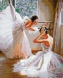 Diamond Vollbedeckung mit Holzrahmen Painting Set Bild 40 x 50 Diamant Malerei Stickerei Handarbeit Basteln Mosaik Steine Blumen Korb Haus am Bach (GJ353)