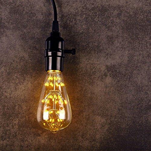 KINGSO E27 ST64 LED Stern Edison Glühbirne 3W 47led Dekorative Vintage Glühlampe Kronleuchter Deko Birne Ideal für Nostalgie und Retro Beleuchtung 220V mit Zertifikat Warmweiß - 2