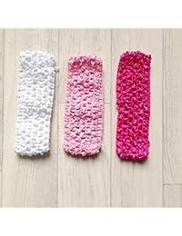 Lot de 3 bandeaux Blanc Rose Fushia ( A)