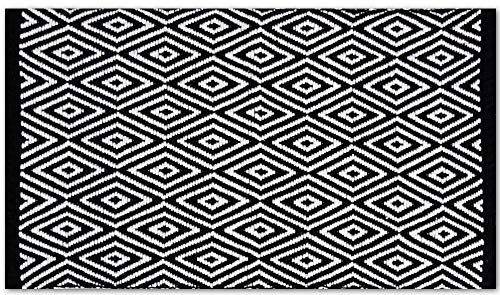 Pro Home Teppich Läufer Matte Unterlage Vorleger Fußabtreter, breite Auswahl an modernen Fleckerl- und Baumwollteppiche (70x130 cm/Diamond) -