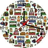 Selina-Jayne Market Day Limited Edition designer horloge murale en verre