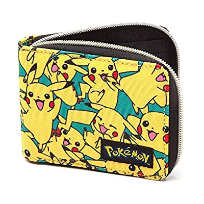 Bioworld POKEMON All-over Pikachu Zip Wallet Monedero, 12 cm, Amarillo (Yellow) por Bioworld