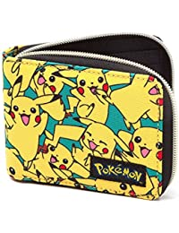 Bioworld POKEMON All-over Pikachu Zip Wallet Monedero, 12 cm, Amarillo (Yellow)