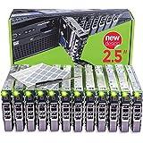 WORKDONE 12 Pezzi - 2.5 Pollici T440 T640 R430 T430 R630 T630 R730xd R830 R930 T620 R720 R820 Vassoio Caddy - G176J Compatibile per Server dell PowerEdge - Etichette per Slitta - Manuale - Cacciavite