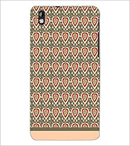 PrintDhaba Heart Pattern D-1598 Back Case Cover for HTC DESIRE 816 (Multi-Coloured)