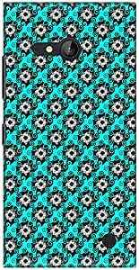 The Racoon Grip printed designer hard back mobile phone case cover for Nokia Lumia 730. (Cyan Swirl)